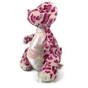 Ganz Webkinz Spotty Dinosaur Plush Pink Purple 10""